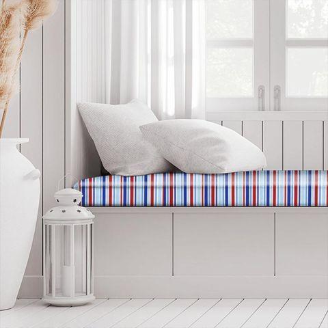 Candy Stripe Nautical Box Cushion