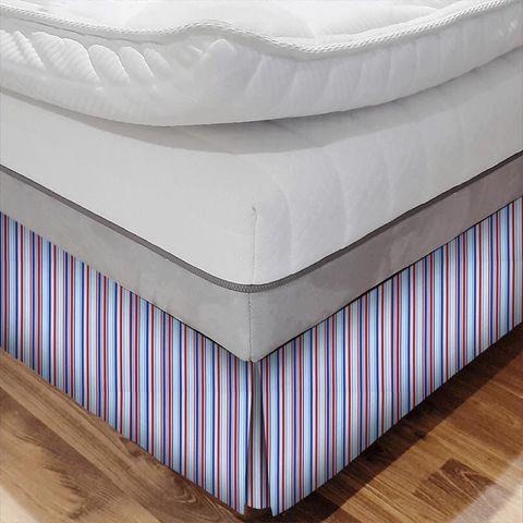 Candy Stripe Nautical Bed Base Valance
