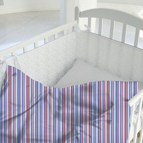 Candy Stripe Nautical Cot Duvet Cover