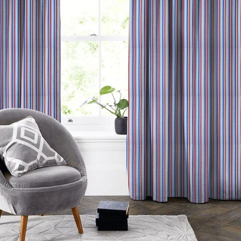 Candy Stripe Nautical Made To Measure Curtain