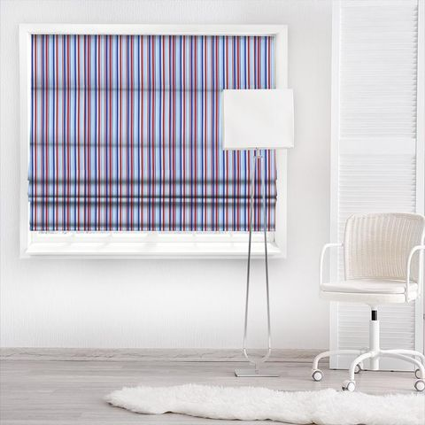 Candy Stripe Nautical Made To Measure Roman Blind