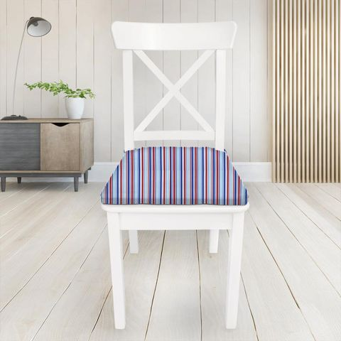 Candy Stripe Nautical Seat Pad Cover