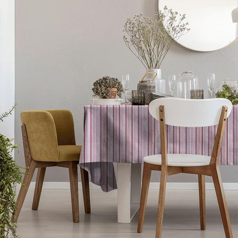 Candy Stripe Pink Tablecloth