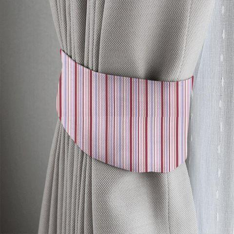 Candy Stripe Pink Tieback