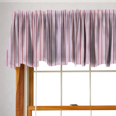 Candy Stripe Pink Valance