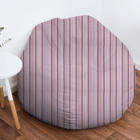 Candy Stripe Pink Bean Bag