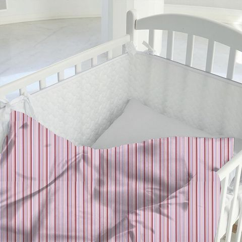 Candy Stripe Pink Cot Duvet Cover
