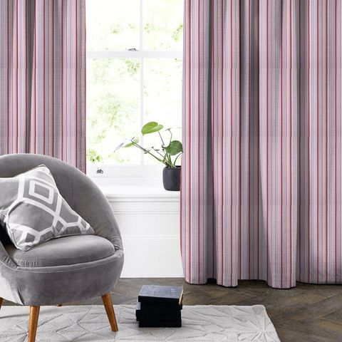 Candy Stripe Pink Made To Measure Curtain