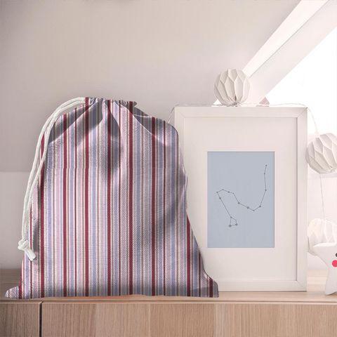 Candy Stripe Pink Pyjama Bag