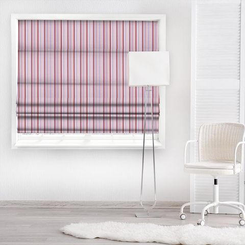 Candy Stripe Pink Made To Measure Roman Blind