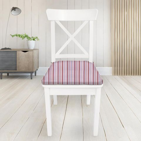 Candy Stripe Pink Seat Pad Cover