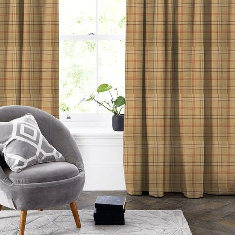 Cerato Orange Made To Measure Curtain
