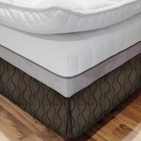 Ciprini Mocha Bed Base Valance