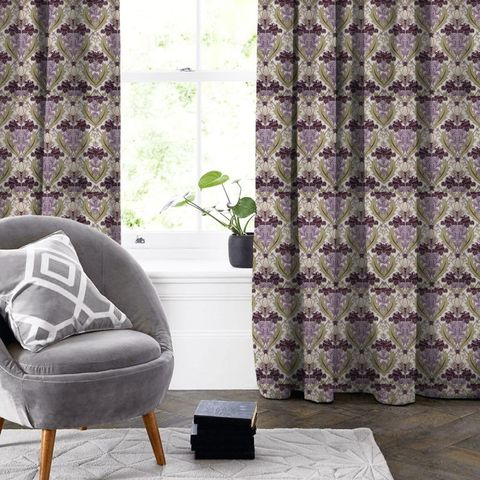 Acanthus Berry Made To Measure Curtain