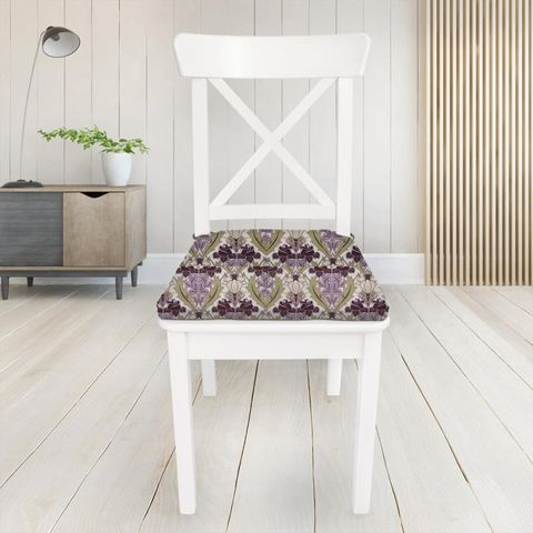 Acanthus Berry Seat Pad Cover