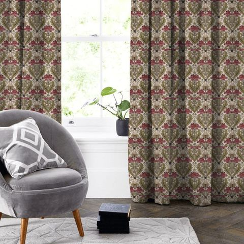 Acanthus Cherry Made To Measure Curtain