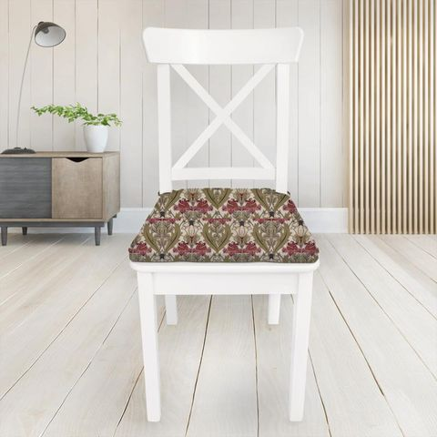 Acanthus Cherry Seat Pad Cover