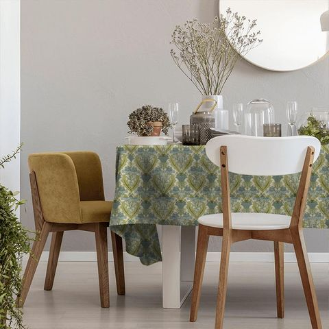 Acanthus Cornflower Tablecloth