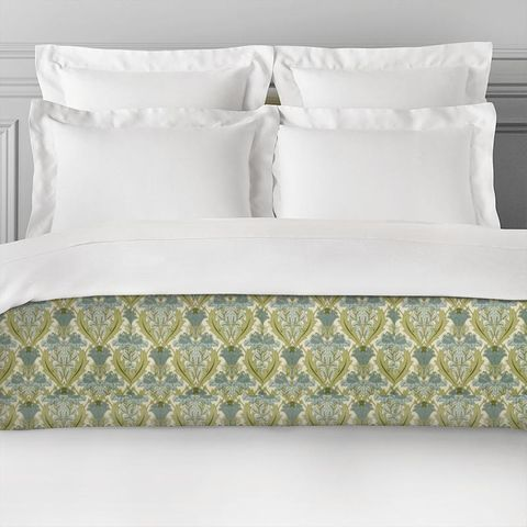 Acanthus Cornflower Bed Runner