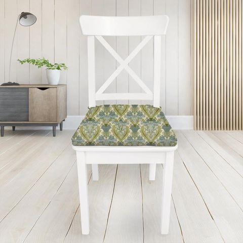Acanthus Cornflower Seat Pad Cover