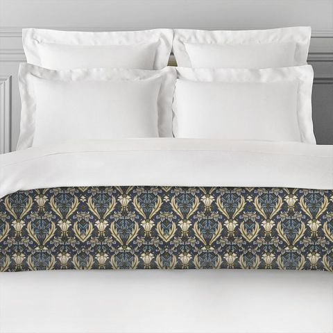 Acanthus Navy Bed Runner