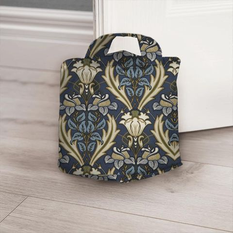 Acanthus Navy Door Stop