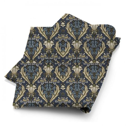 Acanthus Navy Fabric