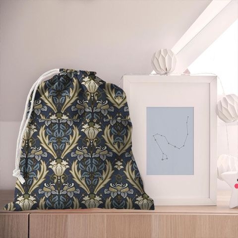 Acanthus Navy Pyjama Bag