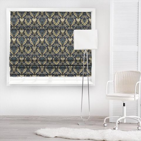 Acanthus Navy Made To Measure Roman Blind
