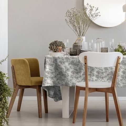 Aquitaine Charcoal Tablecloth