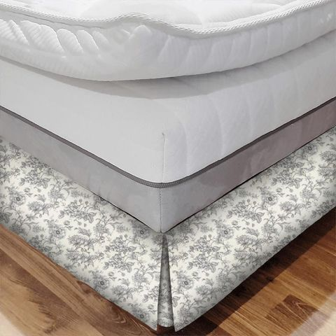 Aquitaine Charcoal Bed Base Valance