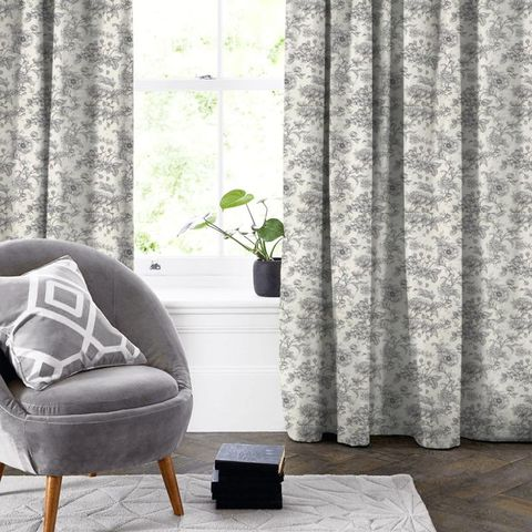 Aquitaine Charcoal Made To Measure Curtain