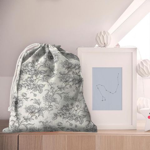 Aquitaine Charcoal Pyjama Bag