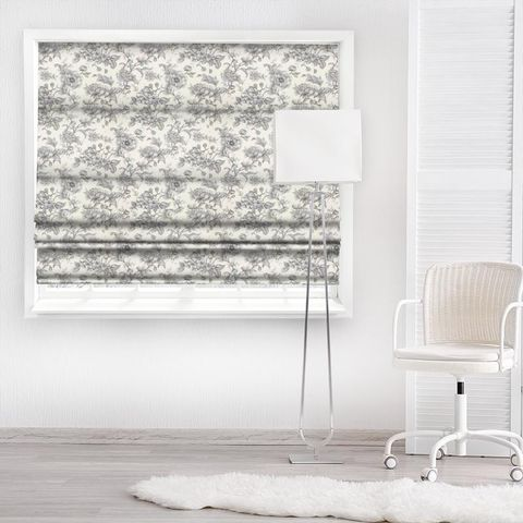 Aquitaine Charcoal Made To Measure Roman Blind