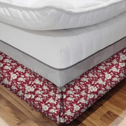 Aquitaine Rouge Bed Base Valance