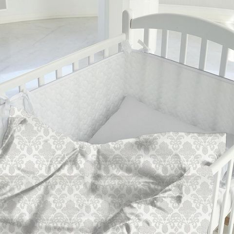 Ardenne Charcoal Cot Duvet Cover