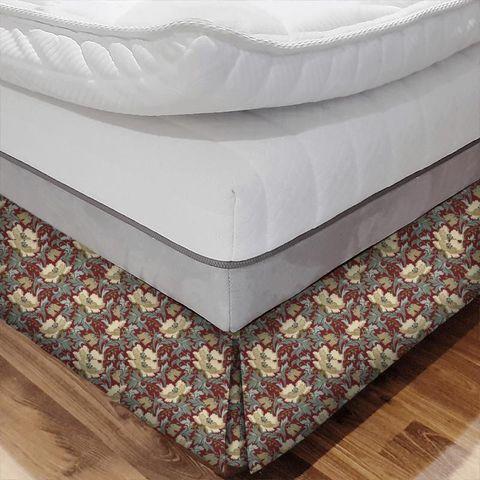 Art Deco Cherry Bed Base Valance