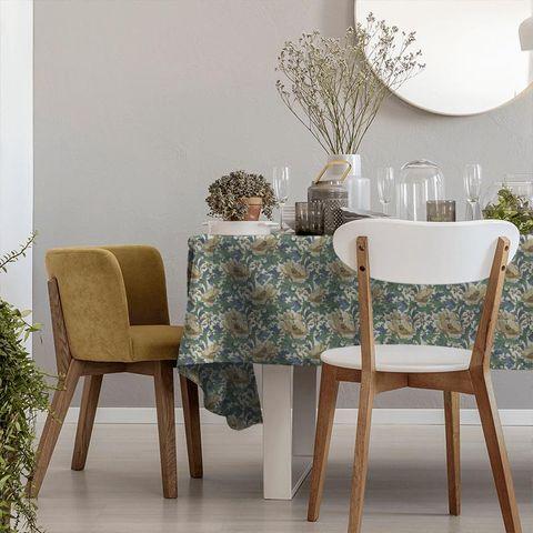 Art Deco Cobalt Tablecloth