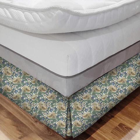 Art Deco Cobalt Bed Base Valance