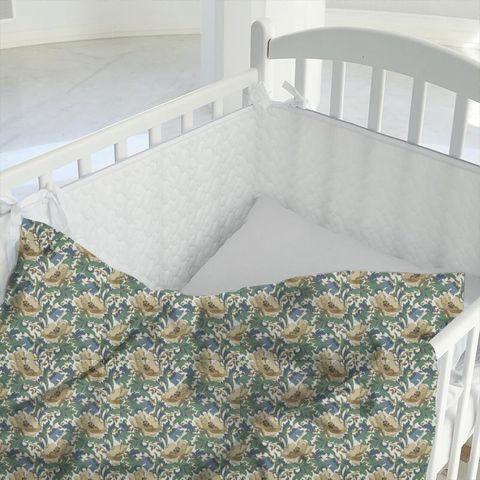Art Deco Cobalt Cot Duvet Cover
