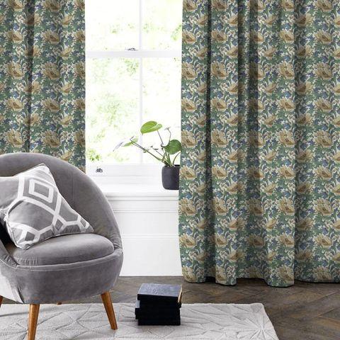 Art Deco Cobalt Made To Measure Curtain