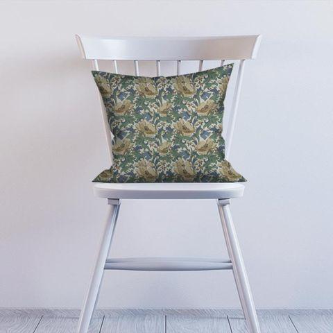 Art Deco Cobalt Cushion
