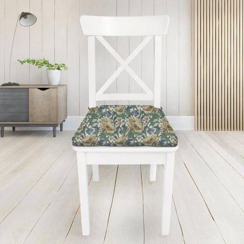 Art Deco Cobalt Seat Pad Cover