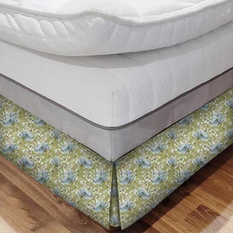 Art Deco Cornflower Bed Base Valance