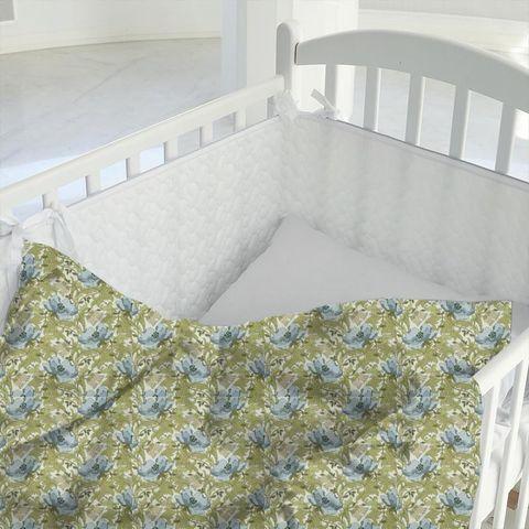 Art Deco Cornflower Cot Duvet Cover