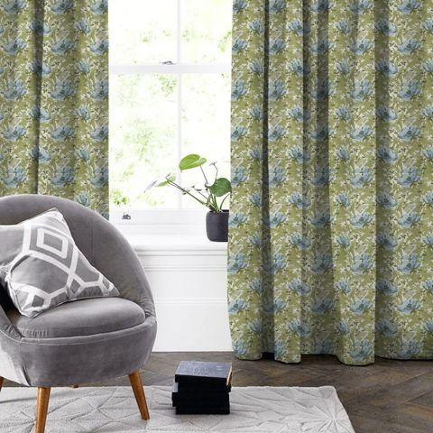 Art Deco Cornflower Made To Measure Curtain