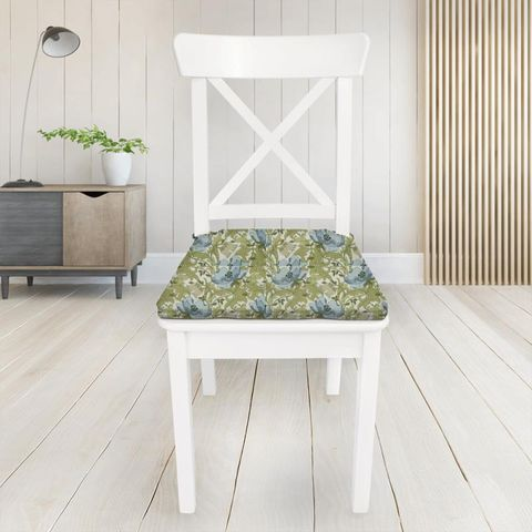 Art Deco Cornflower Seat Pad Cover