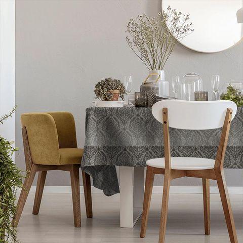Auvergne Charcoal Tablecloth