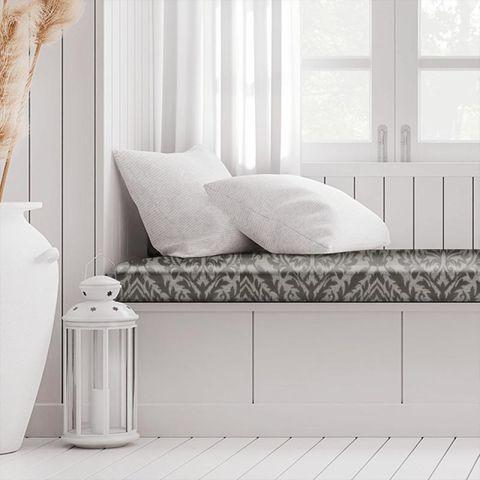 Auvergne Charcoal Box Cushion
