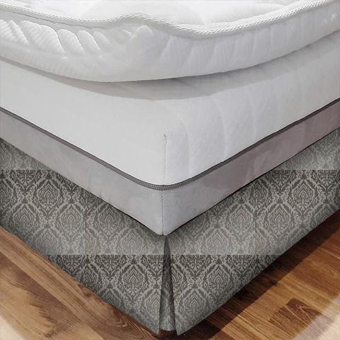 Auvergne Charcoal Bed Base Valance